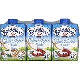 Bridélice Crème fluide stérélisée UHT 12% de Mat. Gr - Les 3 briques de 20cl