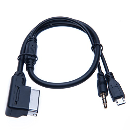 Micro USB AMI MDI Music Interface AUX 3.5mm Adapter kompatibel mit Samsung Galaxy, HTC ONE, Huawei, Sony Xperia, Lumia, LG, Lenovo MP3 player Ladekabel Audio-Adapter für Auto Automobile Car Cars