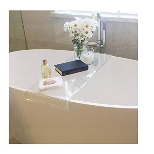 LWFB Badewannenablage, Transparente Multifunktions-Badhalterung für Bad-Badregal