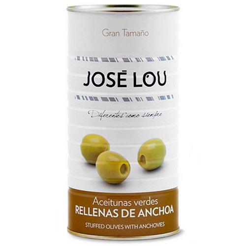 Grüne Oliven gefüllt mit Sardellen (1400g)