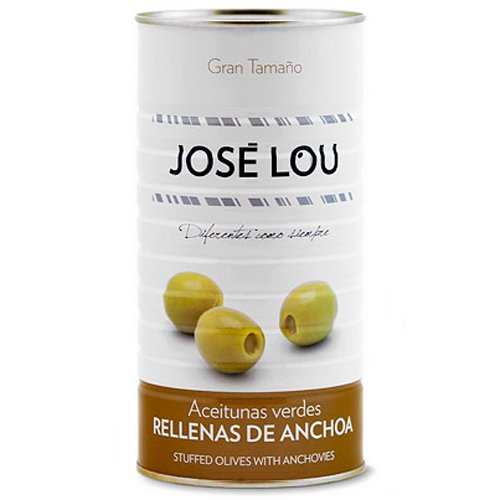 Aceitunas Verdes Rellenas de Anchoa (1,4 kg) - José Lou