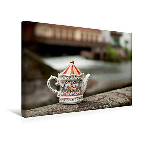 Calvendo Premium Textil-Leinwand 45 cm x 30 cm quer, Teekanne von Sadler | Wandbild, Bild auf Keilrahmen, Fertigbild auf echter Leinwand, Leinwanddruck: Auf auf rauschendes Wasser Lifestyle Lifestyle