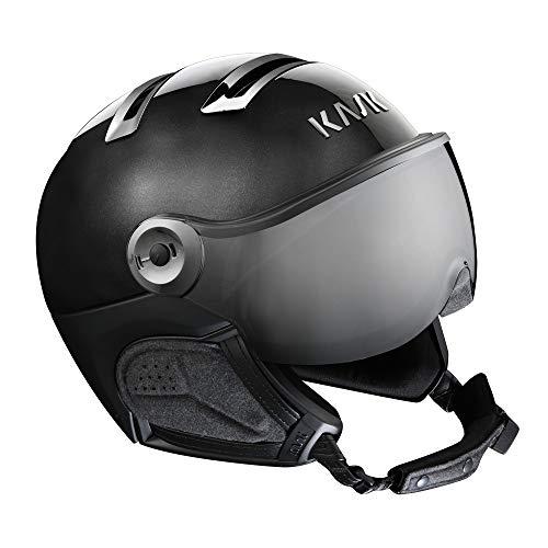 Kask skihelm, chroom, vizier, zwart/zilverkleurig