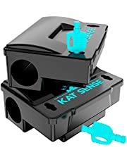 Kat Sense Pest Control Rat Traps, Professional Multi Captsure Set of 6 Large Snap Trap, Infestation Solutions for Indoor Outdoor AntiRodent Protection, Reusable Master Trapping Against Mouse, Chipmun