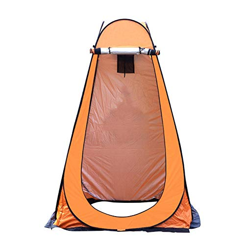 Pop-up-Toilettenzelt Umkleidezelt, 190T Nylon Polyester Outdoor Camping Duschzelt, Camp Toilette Regenschutz mit Tasche, Installationspfähle, winddichtes Seil, Fenster, einfache Einrichtung