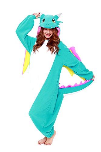 SAZAC Dragon Kigurumi Blue - Adult Costume