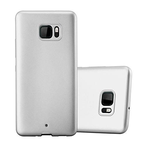 Cadorabo Funda para HTC U Ultra en Metallic Plateado - Cubierta Proteccíon de Silicona TPU Delgada e Flexible con Antichoque - Gel Case Cover Carcasa Ligera