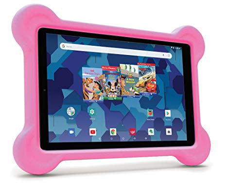 10.1-inch Tablet with Bumper case and Headphones (Pink)
