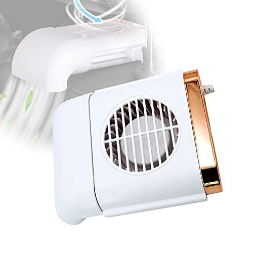 EnweMahi Ventilador Coche Fácil Instalación, Ventilador Radiador Coche Soplar Uniformemente Enfriar Espalda, Coche Mini Ventilador Diseño Carenado Accesorios Completos,Blanco