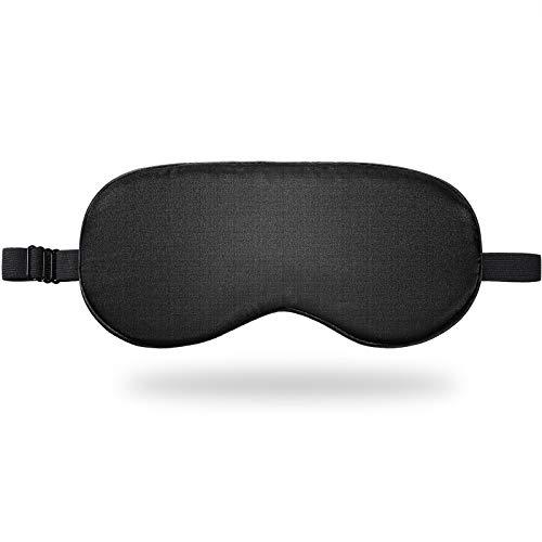Schlafmaske Seiden Stoff Nachtschlaf Augenbinde Glatte Verstellbare Augenschutz Hülle