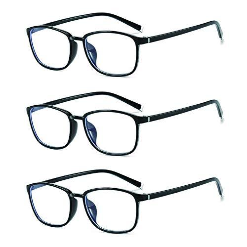 Suertree Blaulichtfilter Lesebrille 3 Pack Computerbrille Damen Sehhilfe PC Gaming UV Blaues Blockiert Brillen Herren 3.0X