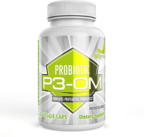 BiOptimizers P3-OM, Shelf Stable Probiotic 60 Caps, 60 g