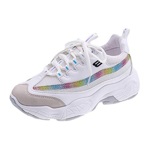 Mode Damen Chic Plateau Schnürer Sneakers Walkmaxx Schuhe Shape-up Fitnessschuhe Sneaker mit Keilabsatz Bequeme Freizeitschuhe Frauen Fitness Sportschuhe Mode Laufschuhe Leicht Turnschuhe