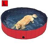 biggroup Bañador Plegable para Perros y Mascotas, para Cachorros o Cachorros, Color Rojo (diámetro) 160 cm