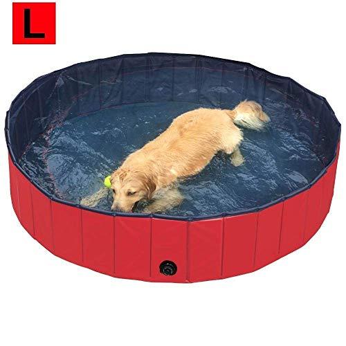 biggroup Opvouwbare Huisdier Honden Zwembad Puppy Badkuip Hond Zwembad, Rood (Dia. 160 cm, Dia. 160cm, Rood