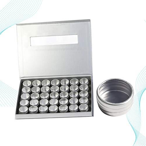 Beaupretty 36 Stks Diamant Schilderij Dozen Opbergdoos Organizer Pot Potten Met Deksel Voor Kralen Sieraden Nail Art Glitter Poeder (35 Mini Aluminium Blik)