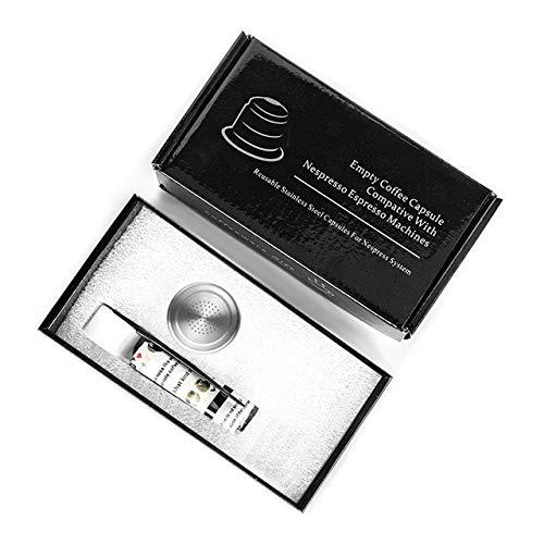 Landia Nespresso - Cápsula de café rellenable de acero inoxidable, filtro de café espresso, cápsula de manipulación reutilizable para regalo, 4 unidades