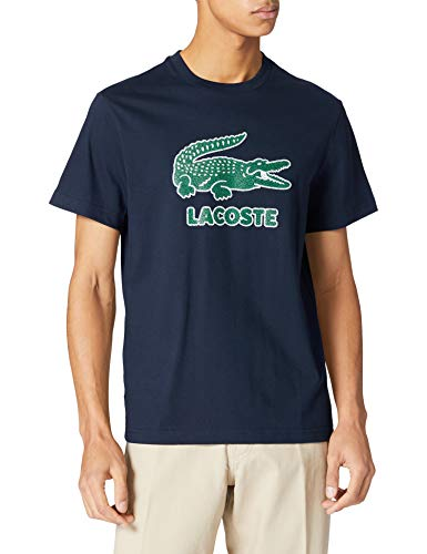 Lacoste TH0063 T-Shirt, Marine, 3XL Uomo