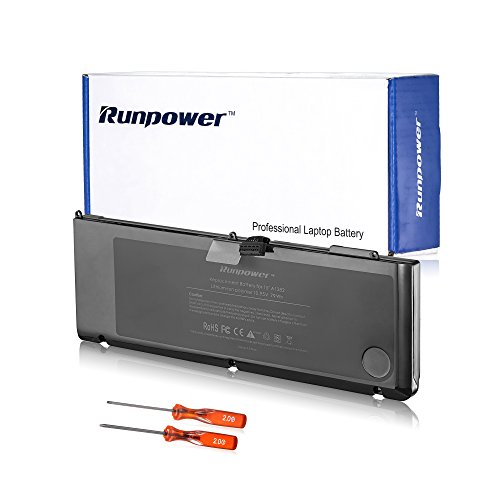 Runpower New Laptop Battery for Macbook Pro A1382 A1286 (only for Core i7 Early 2011 Late 2011 Mid 2012) Unibody Macbook Pro 15'[ 79Wh/7200mAh]