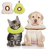 Xinzistar 2 Stück Halskrause Katzen Schutzkragen für Katze, Verstellbar Weich Soft Anti-Biss Wiederherstellung Katzenkragen Katzentrichter für kleine Haustiere Hund