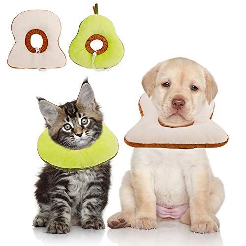 Xinzistar 2 Stücke Halskrause Katze Schutzkragen für Katzen und Hund, Weich Verstellbar Haustiere Wiederherstellung Halsband Leckschutz Katzentrichter Katze Kragen, Anti-Biss