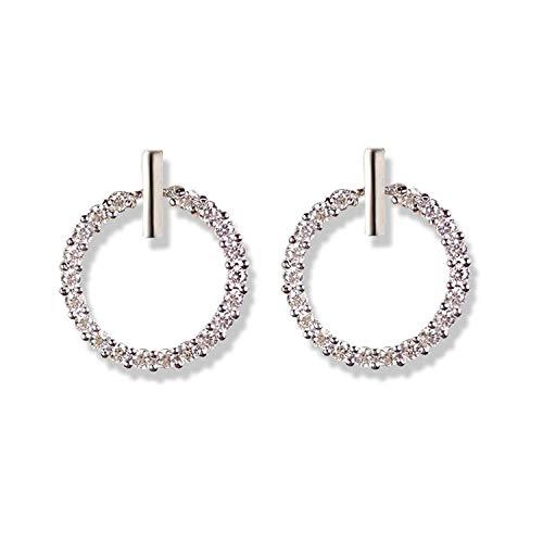 Thumby S925 Sterling Zilver Diamant Zirkonia Ring Meisje Oorbellen Temperament Persoonlijkheid Eenvoudige Rose Goud Kleine Meisje Oorbellen