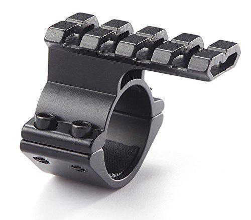 NcDe 25.4mm 30mm Tactical Laser Flashlight Barrel Clamp Mount with Rail for 12 Gauge Shotguns and Magazine Tubes Fits Remington 870 Mossberg 500 590a1 Maverick 88