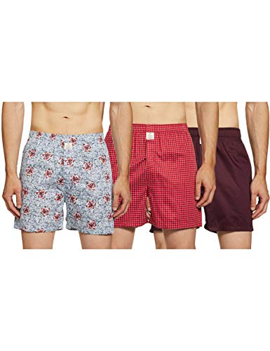 HammerSmith Men's Regular Boxers (Pack of 3) Relaxed Cotton Casual...