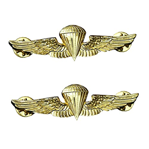 JXS American Skills Badge Souvenir, Marine Corps Airborne Soldier Badge 1: 1 réplica, Insignia de aleación, Recuerdo Coleccionable 2pcs