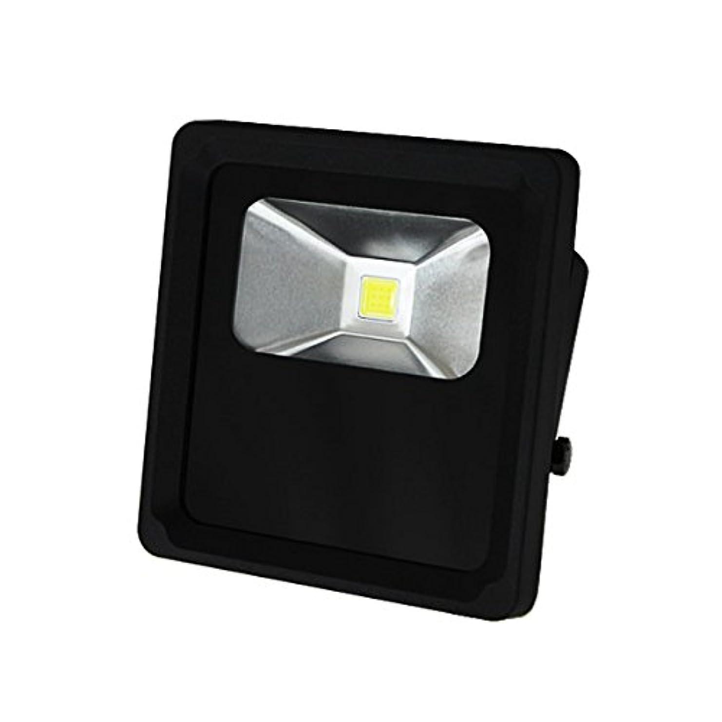 金銭的な不屈エラーWEIMALL LED投光器 LEDワークライト 超薄型 10W 電球色 3000K 広角120度 防水加工 3mコード付 ブラック