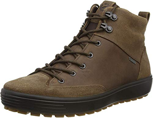 ECCO Herren Mens Soft 7 TRED GTX High Hohe Sneaker, Braun, 44 EU