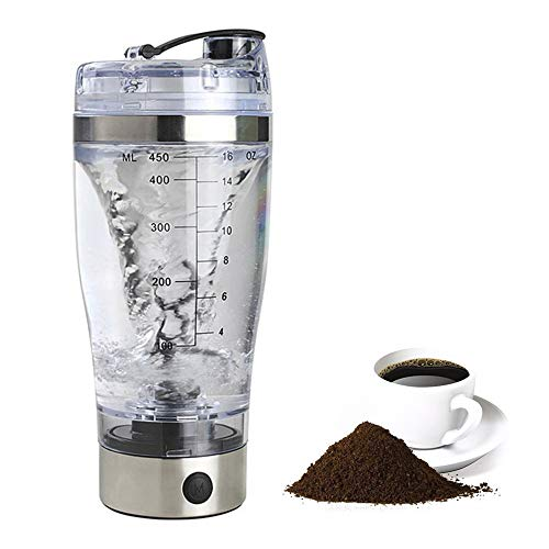 Elektrischer Protein Shaker Eiweißshaker Mixer Shaker Becher Flasche Kreative Elektro Blender 450ml, Batteriebetrieb