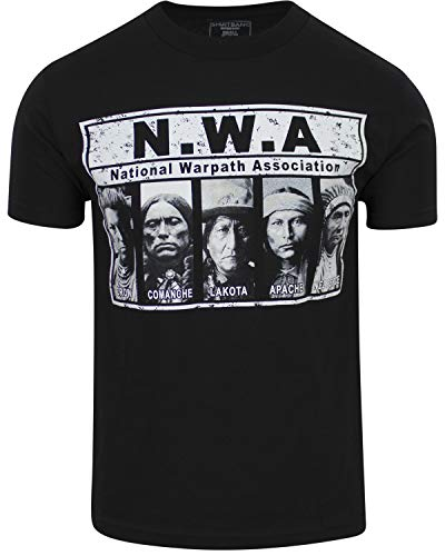 ShirtBANC National War Association Mens Shirt Native American Tee (National Warpath Association, Medium)