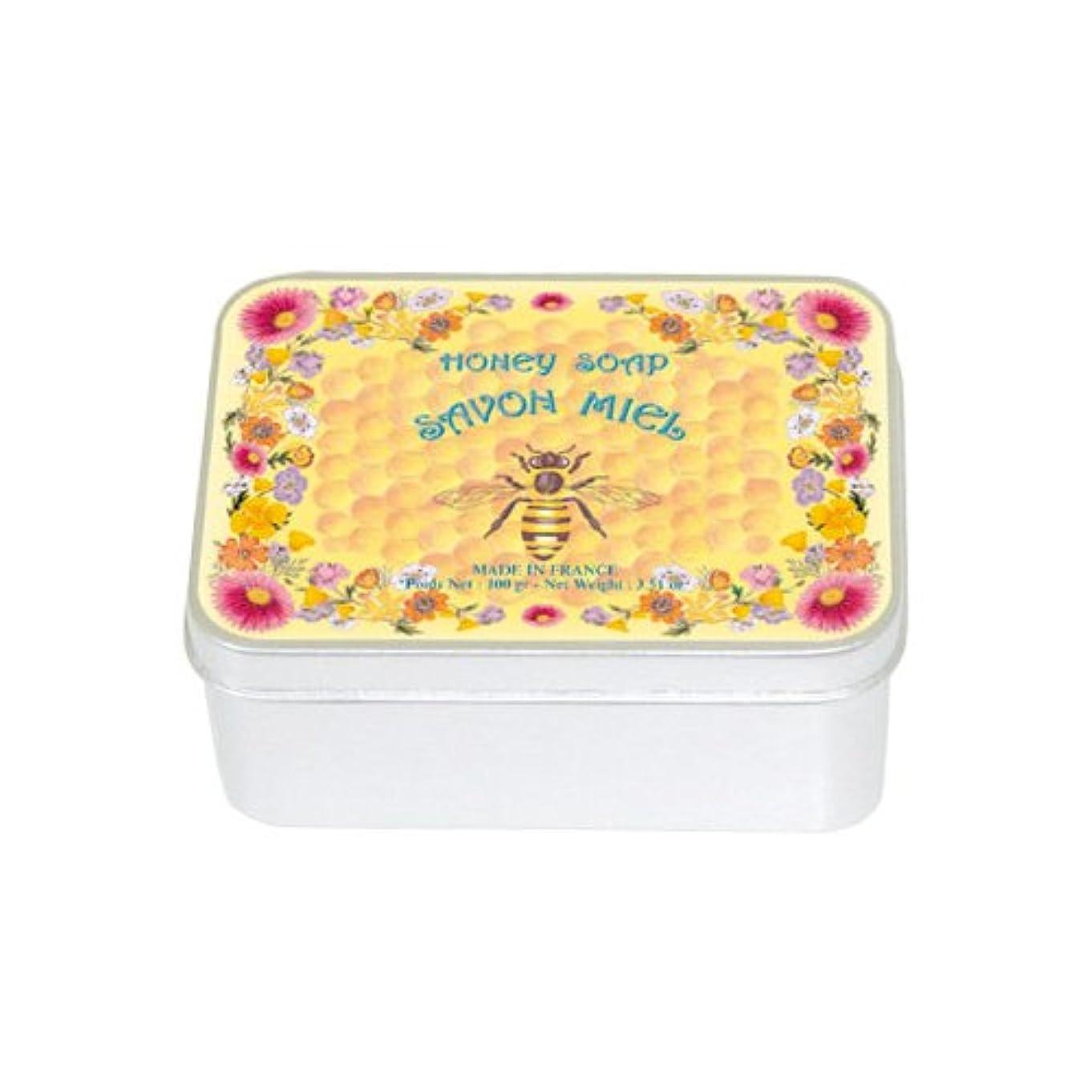 アルカトラズ島贅沢なレプリカルブランソープ メタルボックス(ハチミツの香り)石鹸
