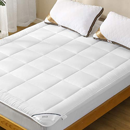 Mattress Pad Twin Size with Deep Pocket Microplush Mattress Topper with Fitted Skirt Quilted Stretch Pillow Top