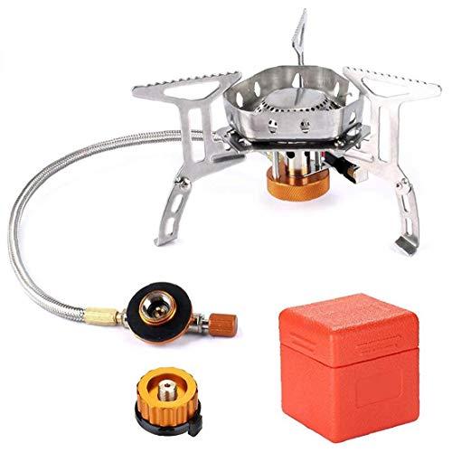 Plegable Mini Estufa de Camping Gas con Encendido piezoeléctrico Cocina de Gas portátil con Estuche de Transporte para la Comida campestre Que acampa con Mochila de Escalada