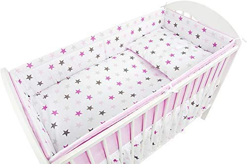 Baby Bedding, six Nursery Crib Bedding Package, Cribs, Baby Room, Children's Room,Fits Cot Bed 140x70 cm-Pattern1