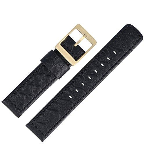 Liebeskind Uhrenarmband 18mm Leder Schwarz Schlange - Uhrband B_LT-0015-LQ