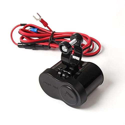 Enchufe de motocicleta encendedor de cigarrillos, Asudaro cargador USB de motocicleta enchufe a bordo impermeable 12V 24V cargador de manillar de motocicleta fuente de alimentación USB universal