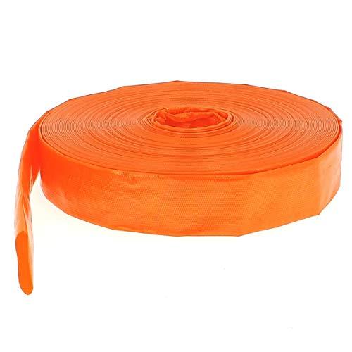 Flachschlauch PVC - Bauschlauch - Industrieschlauch - Betriebsdruck 4 bar - Orange - Innen- Durch. 38mm (1 1/2 Zoll) Länge 25 m