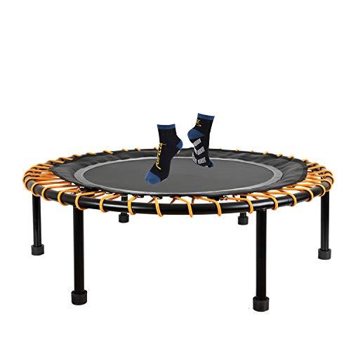 Ampel 24 - Mini Cama Elastica Ø 110 cm/Fitness trampolino con el Sistema de Cuerdas elásticas/Ajustable/Carga máxima de hasta 150 kg