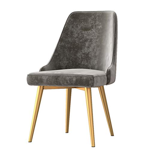 Amrai Satz von 4 Nordic Dining Chairs Accent Arm Chairs, (6-farbig) Square Velvet Seat Cafe Beistellstühle, Wohnzimmer Club Guest Rückenlehne Freizeitstuhl, Größe: 50x50x90cm
