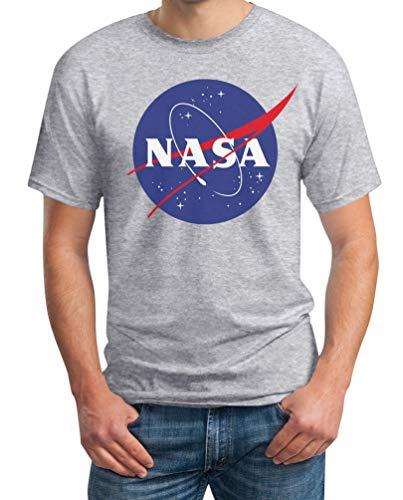 NASA Logo Galaxy Streetwear Outfit Maglietta da Uomo Large Grigio