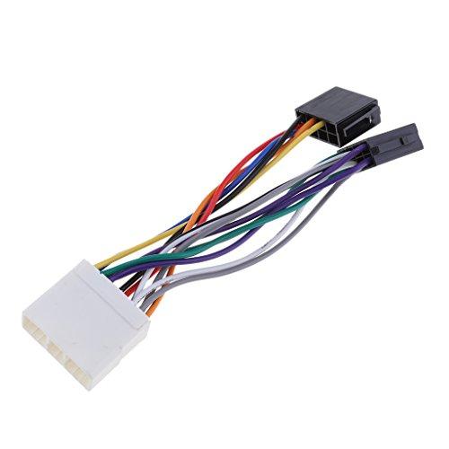 B Blesiya Cable de Mazo de Cables de Repuesto para Cableado de ISO de Subaru Impreza Forester