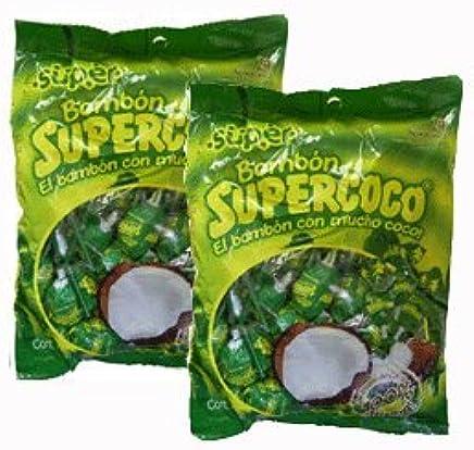 Amazon.com : Supercoco Bombon Chupetas Caramelo Con Coco ...