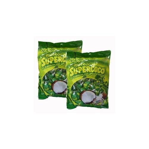 Supercoco Bombon Chupetas Caramelo Con Coco 384grs 2pack