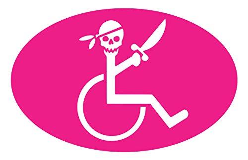 【全16色】車椅子マーク/車イス サイン/カー ステッカー/Car/スカル/ドクロ/車用/シール/ Vinyl/Decal /バイナル/デカール/-3A (シクラメン) [並行輸入品]