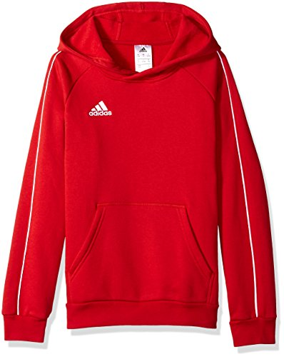Adidas Core18 - Sudadera con capucha unisex - S1806GHTT221Y, Sudadera con capucha Adidas para jóvenes., Large, rojo Power/blanco