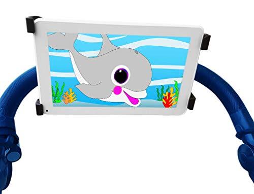 Tablethouder voor kinderwagens en baby's, compatibel met iPad, kinderwagen, buggy, universeel, geschikt voor alle soorten kinderwagens, 360 graden draaibaar