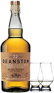 Deanston 12 Jahre Single Malt Whisky 0,7 Liter  2 Glencairn Gläser